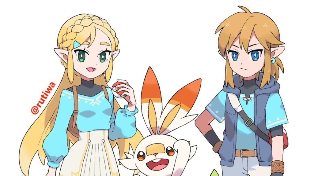 Fan Art What If Link And Zelda Were Pokemon Trainers In The