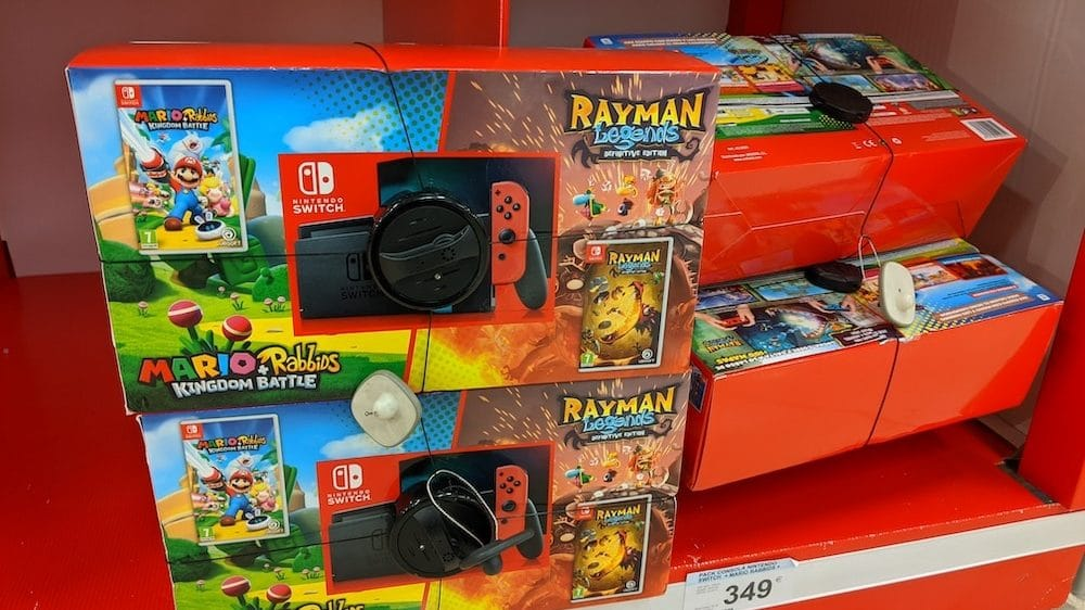 Nintendo Switch Mario + Rabbids And Rayman Legends Bundle Spotted In Spain