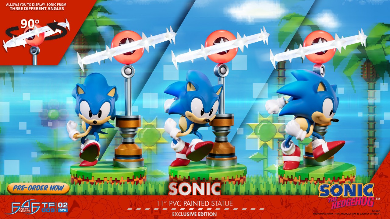 First 4 Figures Open Pre-Orders For Sonic The Hedgehog Figure