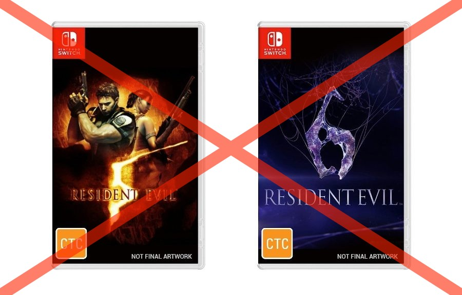 Retailer Says Switch Physical Listings For Resident Evil 5 And Resident Evil 6 Were Mistakes, Refunds Pre-Orders