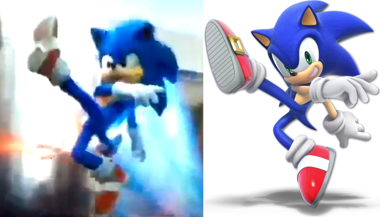 Sonic Movie References Sonic's Super Smash Bros Ultimate Pose
