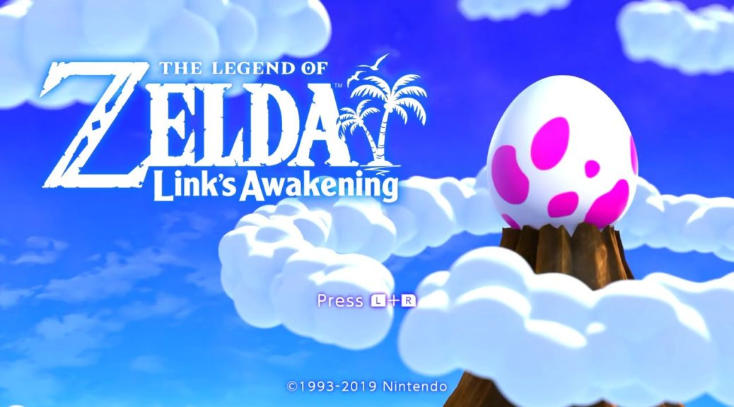 Zelda Link's Awakening title screen