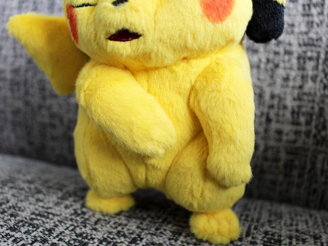 "Pokemon Center original wrinkled face plush movie /""Detective Pikachu/"" Pikachu"