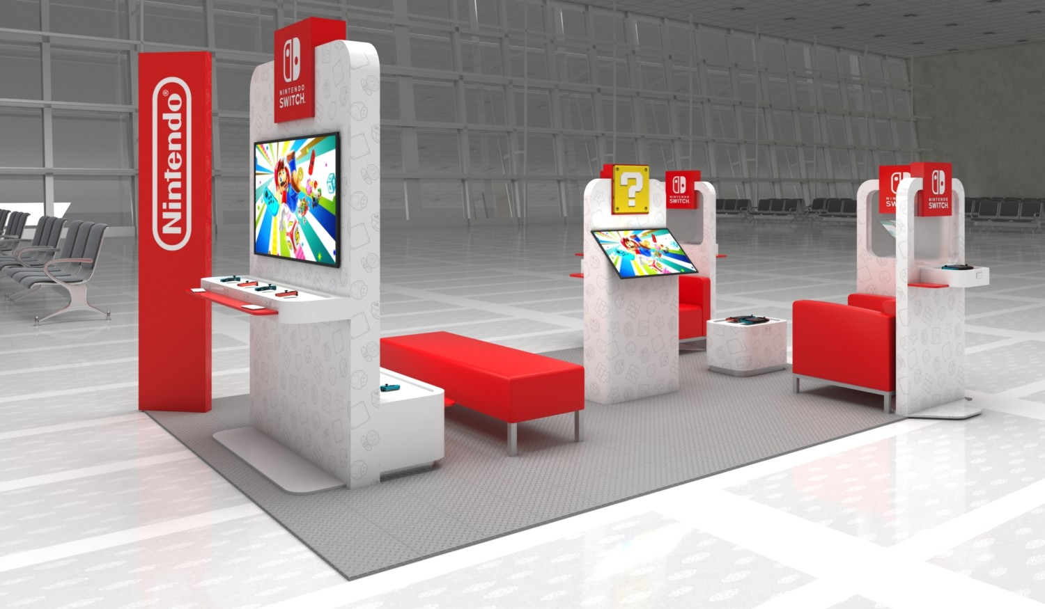 Resultado de imagen de nintendo switch washington airport