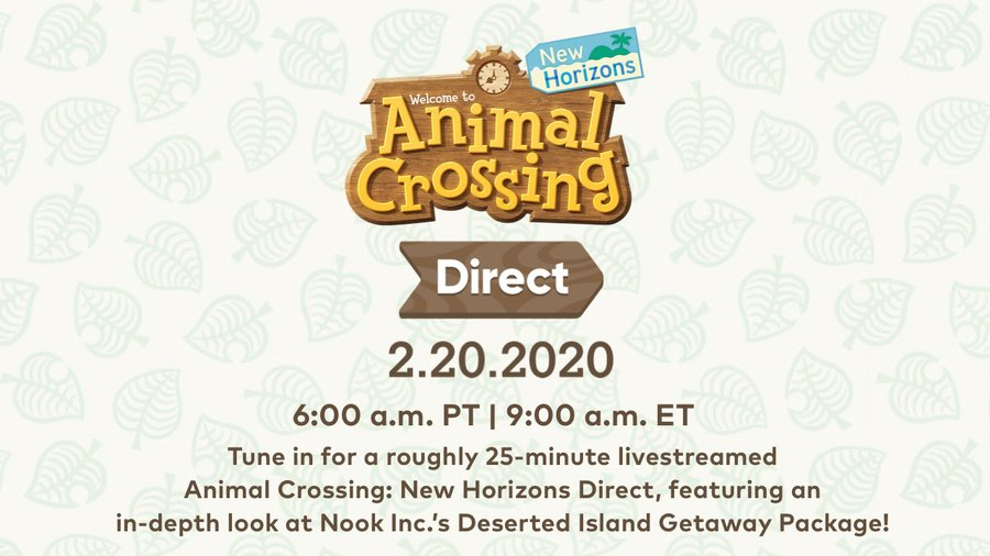 Animal Crossing: New Horizons Direct Announced For February 20th   NintendoSoup
