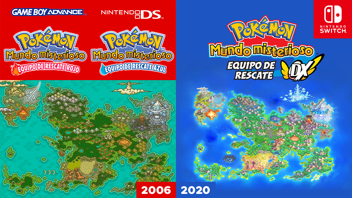 Let's Compare The Maps Of Pokemon Mystery Dungeon: Rescue Team DX And Its Predecessor   NintendoSoup