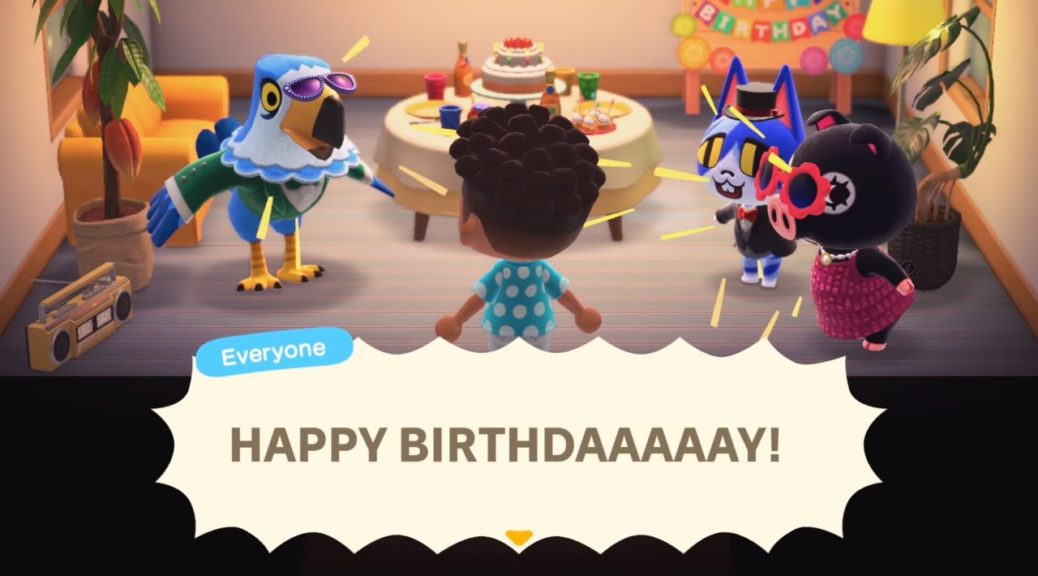 Check Out Some Birthday Party Gameplay From Animal Crossing: New ...