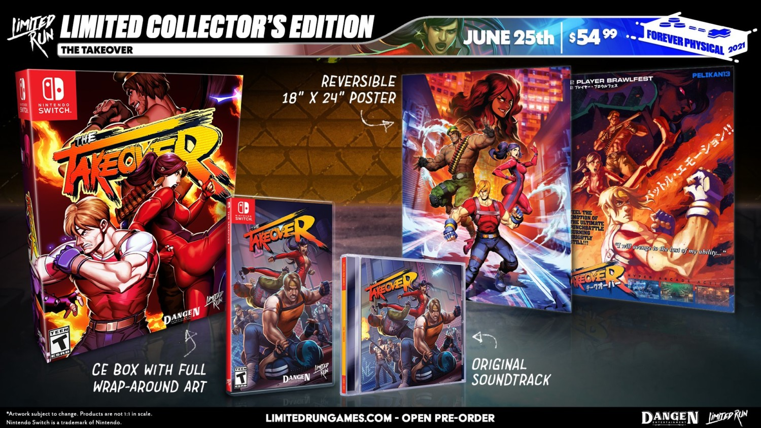 The Takeover Switch Physical Editions Revealed By Limited Run Games, Pre-Orders Start June 25 | NintendoSoup